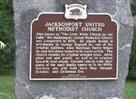 Jacksonport WI historical sign